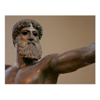 Zeus bronze statue in Athens Greece Postcard