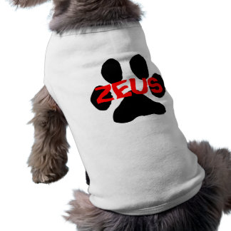 Zeus Doggie Pet Clothing (Shirt Customized)