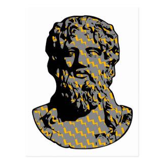 Zeus marble statue postcard