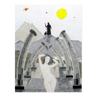 Zeus Ponders Over The Fate of Aphrodite Postcards
