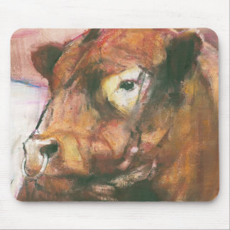 Zeus Red Belted Galloway Bull 2006  2 Mouse Pad