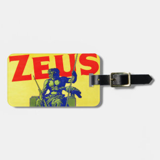 Zeus - Vintage Poster Design Luggage Tag