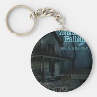 ZF 5 Throwback Basic Round Button Key Ring