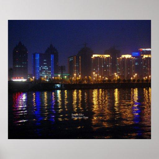 Zhengzhou, Henan Province, Dragon Lake Poster