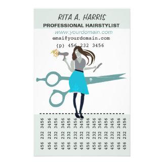 Zhoosh Beauty Salon Hairstylist  Hairdresser Flyer