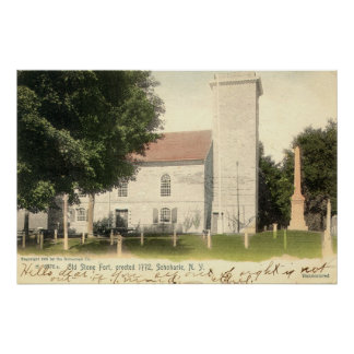 ZHR0034 1905 Vintage Old Stone Fort, Schoharie, NY Print