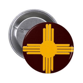 Zia 6 Cm Round Badge