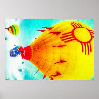 Zia balloon poster
