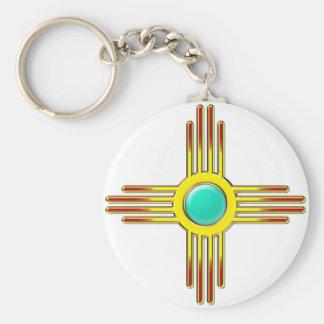 Zia Sonne - Zia Pueblo - Kraft Symbol Schlüsselbänder