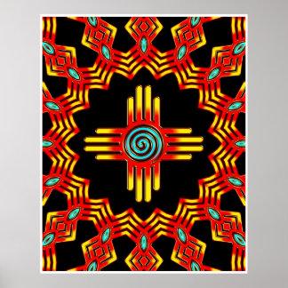 Zia Sun - Zia Pueblo - New Mexico Poster
