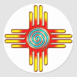 Zia Sun - Zia Pueblo - New Mexico Stickers