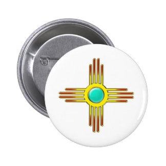 Zia sun - Zia Pueblo - strength symbol 6 Cm Round Badge