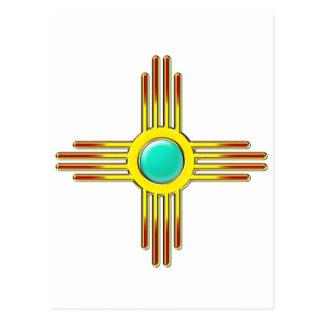 Zia sun - Zia Pueblo - strength symbol Postcard