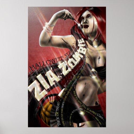 Zia Zombie Was Here!!! - Halloween Poster