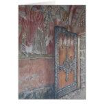 Zica Frescoes and Door Greeting Card