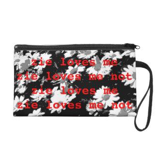 Zie Loves Me / Zie Loves Me Not Bag Wristlet Purse