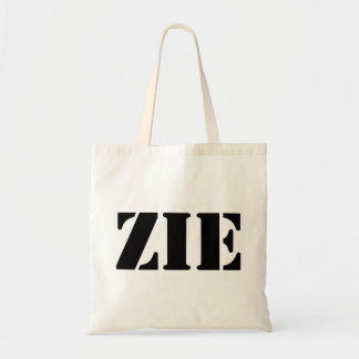 Zie pronoun tote bag