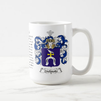 Zielinski, the Origin, the Meaning and the Crest Coffee Mug