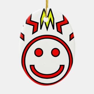 Zig Face Christmas Ornament