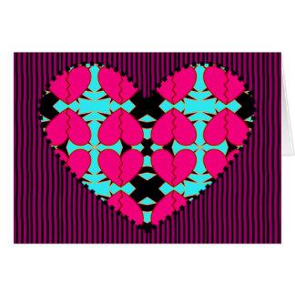 Zig-n-Zag Hearts Greeting Cards