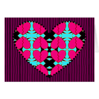 Zig-n-Zag Hearts Greeting Card