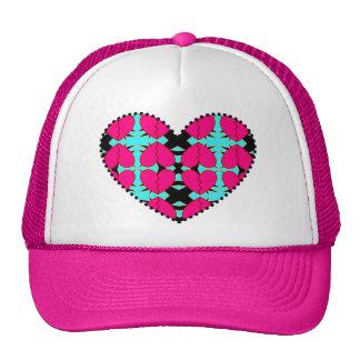 Zig-n-Zag Hearts Trucker Hats