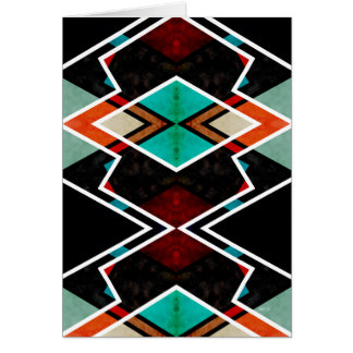 Zig Zag Angles 5 Greeting Card