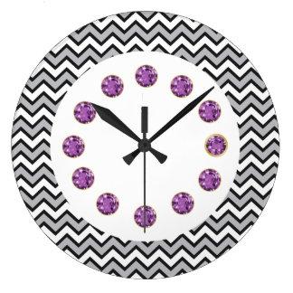 Zig Zag Bling Wall Clock