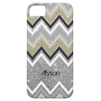 Zig Zag Chevron Pattern Glitters iPhone 5 Case