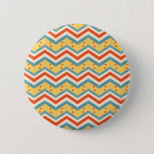 Zig Zag Dots 6 Cm Round Badge