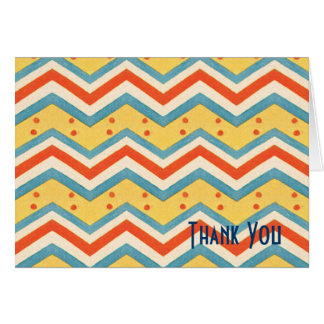 Zig Zag Dots Thank You Cards