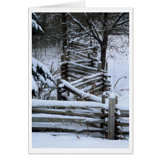 Zig Zag Fence Greeting Card