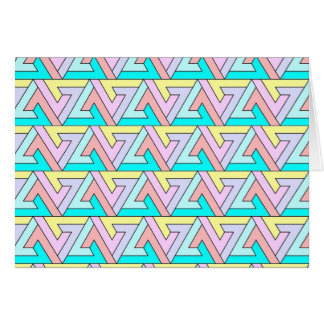 zig zag gentle colors greeting cards