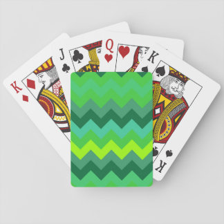 zig zag geometry triangle green pattern abstract playing cards