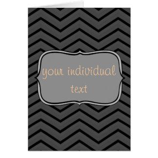 Zig Zag, grey Greeting Cards