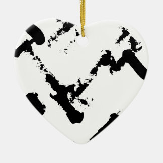 zig-zag match sticsk's ceramic heart decoration