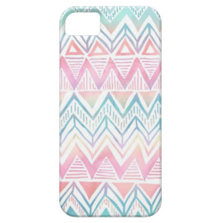 Zig zag multicolored pattern marries barely there iPhone 5 case