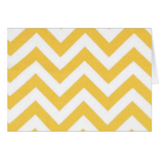 Zig Zag Orange Striped Pattern Greeting Card