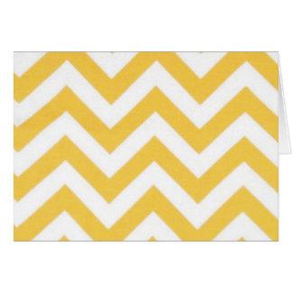 Zig Zag Orange Striped Pattern Greeting Card