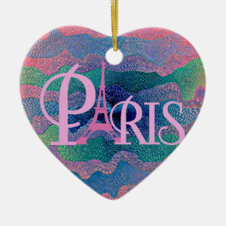 Zig Zag PARIS Christmas Ornament