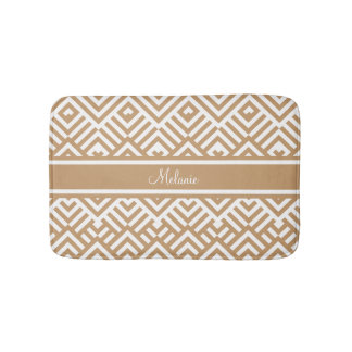 Zig zag pattern with name bath mat