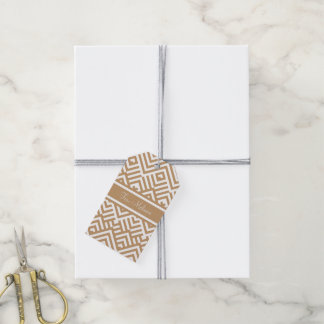 Zig zag pattern with name gift tags
