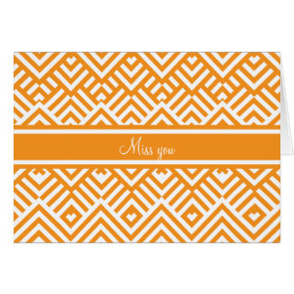 Zig zag pattern with name greeting card
