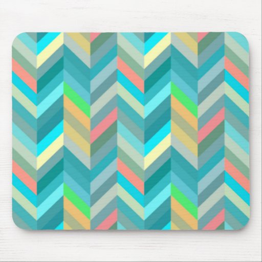 Zig zag pink and turquezas mouse pad