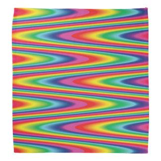 Zig Zag Psychedelic Rainbow Pattern Bandana