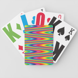 Zig Zag Psychedelic Rainbow Pattern Bicycle Playing Cards