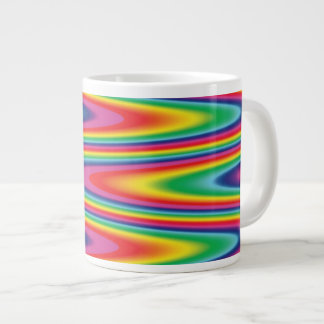 Zig Zag Psychedelic Rainbow Pattern Large Coffee Mug