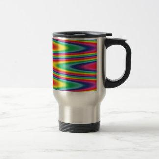 Zig Zag Psychedelic Rainbow Pattern Coffee Mug
