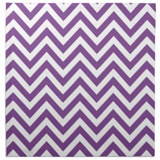 Zig Zag Purple and white striped Template Pattern Napkins