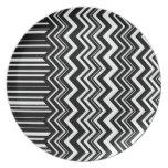 Zig-Zag Stripe Party Plates